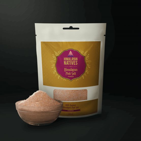 Pink salt powder